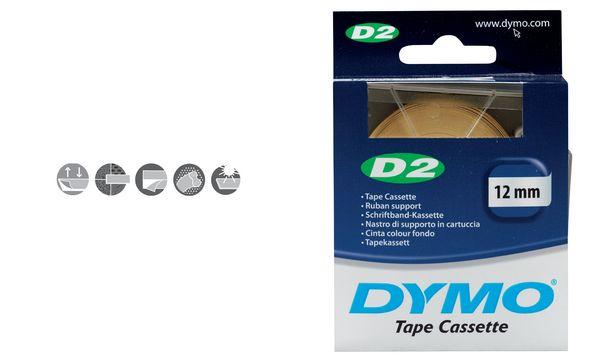 D2 Etikettenbandkassette weiß 6 mm/10m
