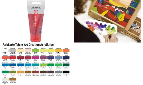 Acrylfarbe ArtCreation, azogelb zitron, 75 ml