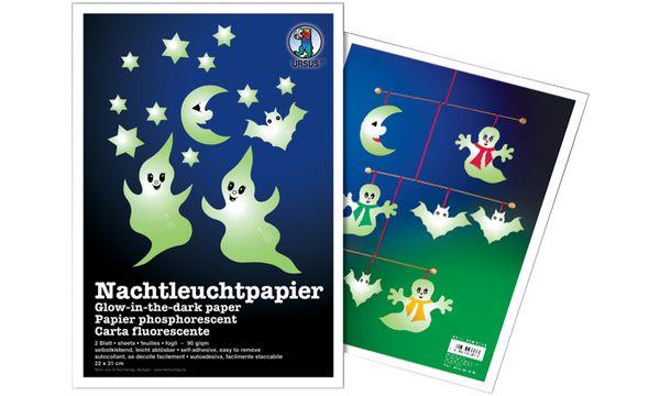 Nachtleuchtpapier, 220 x 310 mm, 90 g/qm