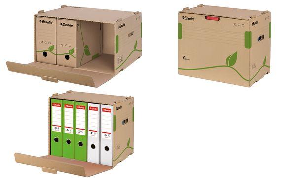 #10xEsselte Archiv-Container ECO für Ordner, braun