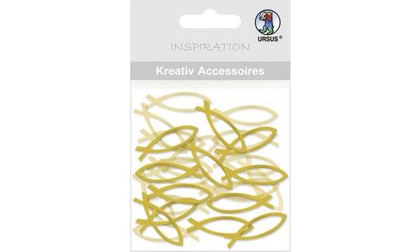 Kreativ Accessoires Mini Pack, Fische silber