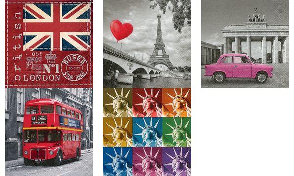 Paper+Design Motivservietten British flag