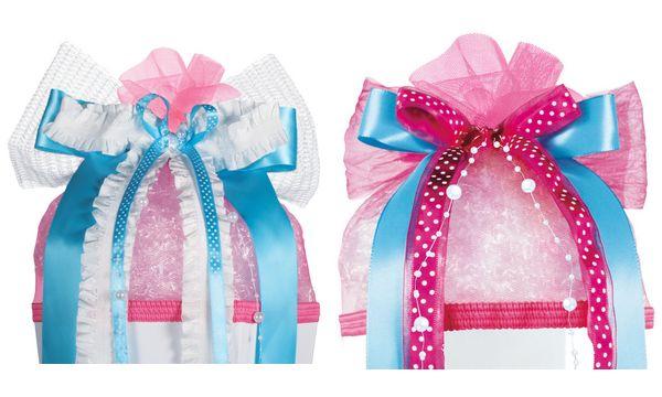 Schultütenschleife Spring, pink/grün/weiß