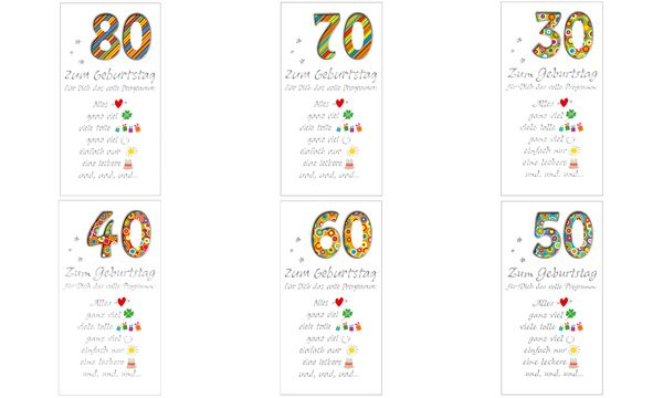 Geburtstagskarte - 80. Geburtstag Schrift