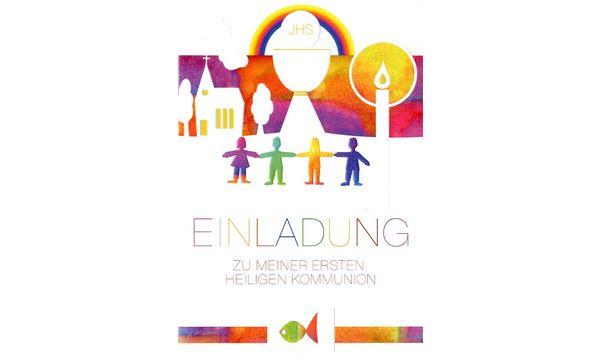 Einladungskarte - Kommunion - Christliche Motive -