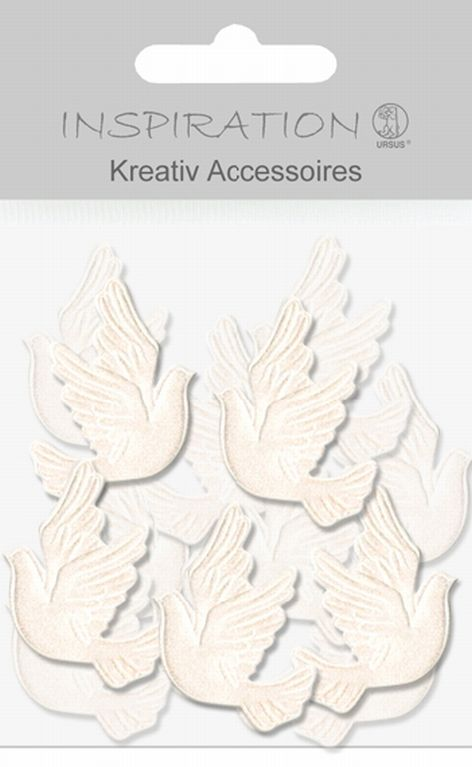 Kreativ Accessoires Mini Pack, Tauben weiß