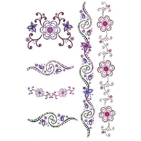 Tattoos Colour Art Herzen & Blumen, wasserfest