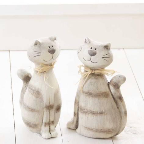 Deko Katze Bella Keramik sitzend creme braun 2-fach sort...