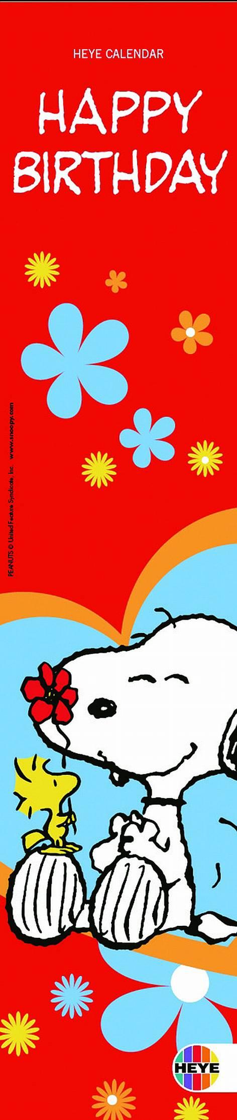 Geburtstagskalender Snoopy 7x33cm jahresunabhängig