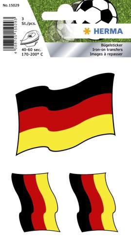 #10xBügelbilder Deutschland-Fahne