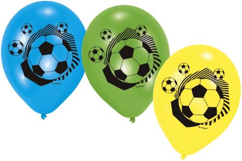 Luftballon rund 6 Stück Fussball Party II