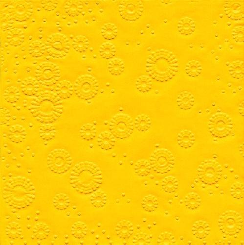 Serviette Zelltuch gelb