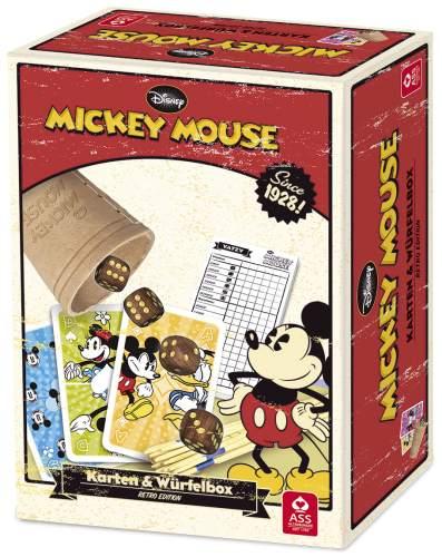 Spielebox Karten und Würfel Retro Mickey Mouse