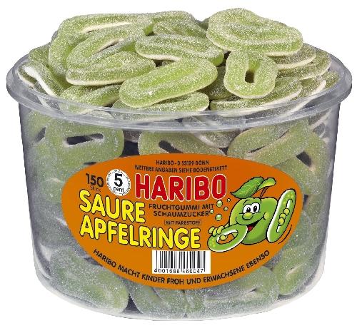 HARIBO Saure Apfelringe 150 St