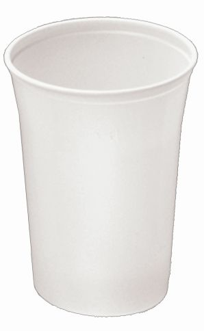 Plastikbecher 0,4l weiß ohne Henkel