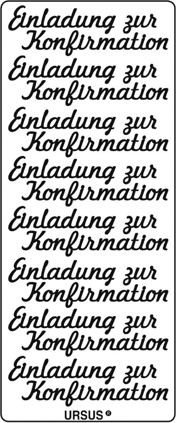 Sticker Filigrane silber Einladung Konfirmation kreativ ...