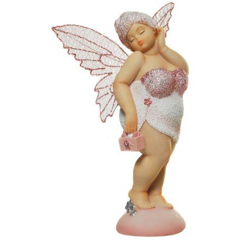 Deko Figur Elfe aus Polyresin stehend kokett in Pose wei...