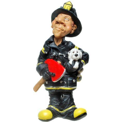 Deko Figur aus Polyresin Feuerwehrmann 16,5x8cm