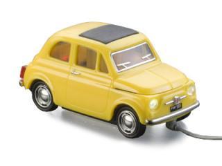 USB Mouse Fiat 500 (Gelb)