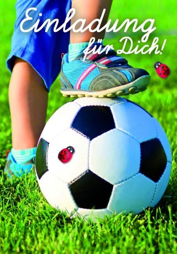 Karte Geburtstag Einladungen für Kinder Jungen Fussball ...