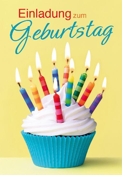 Karte Geburtstag Einladungen 5er Beutel