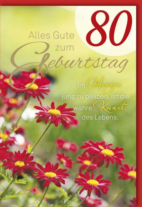 #6xKarte Geburtstag Zahl 75 Zahl mit Blumen Spruch Vered...