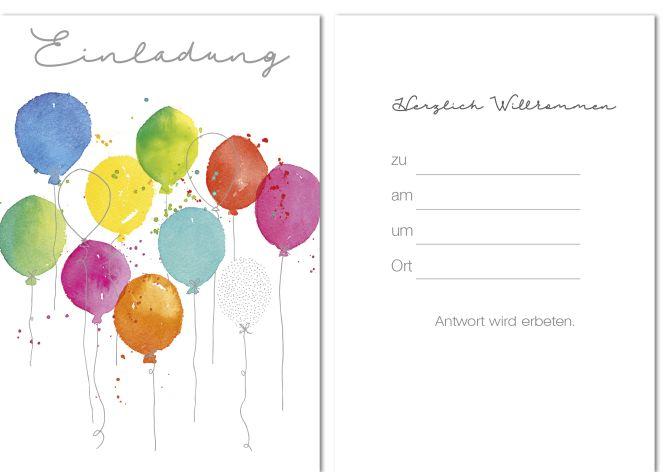 Karte Allgemein Einladung 10er Beutel 1 Motiv Junge Skat...