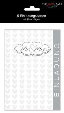 Karte Hochzeit Einladung mit Innentext 5er Beutel Motiv ...
