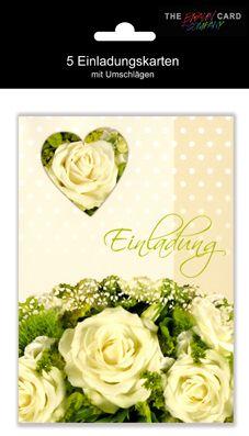 Karte Hochzeit Einladung mit Innentext 5er Beutel Hinter...