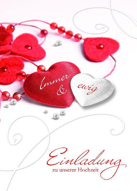 Karte Hochzeit Einladung Herzen Herzenkette