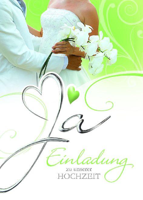 Karte Hochzeit Einladung Ehepaar Blumen Calla