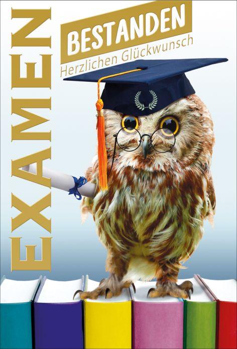 #5xKarte Prüfung Examen zum Bachelor Wappenlilie Folienp...