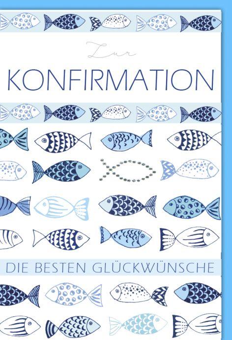 #5xKarte Konfirmation Motiv Folie gold Spruch Kreuz weis...