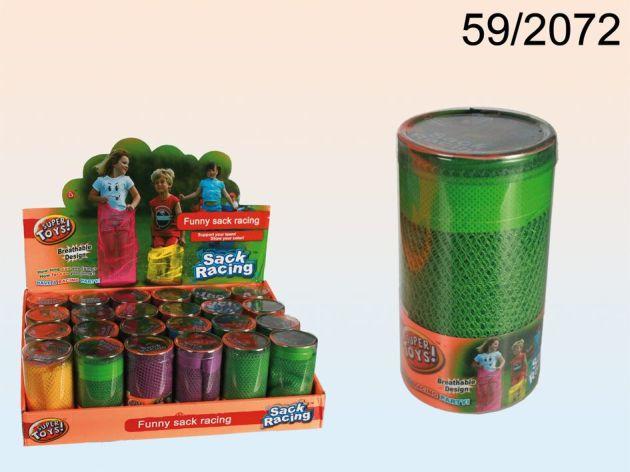 Hüpfsack Netz farbig sortiert 78cm einzeln in PVC Dose