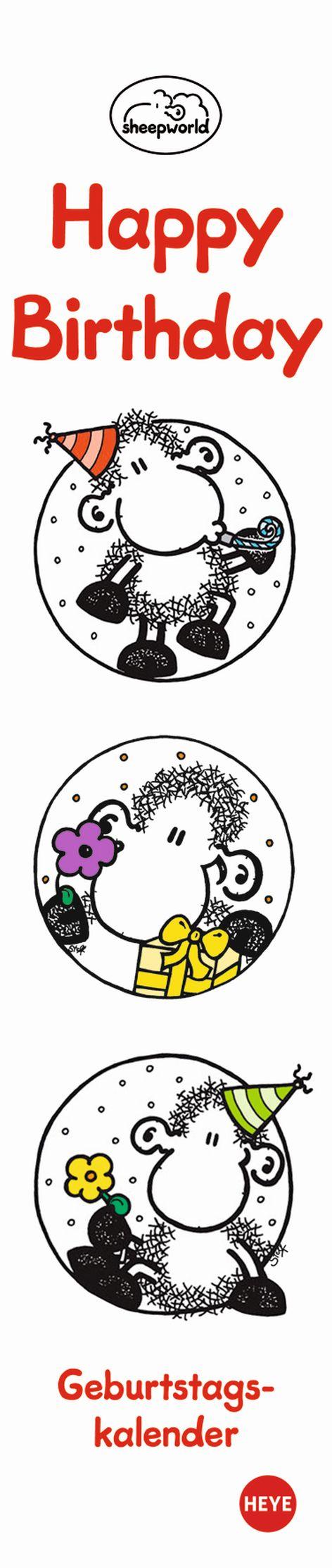 Geburtstagskalender Sheepworld 7x33cm jahresunabhängig