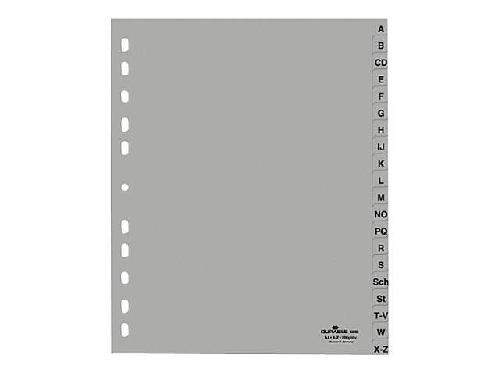 DURABLE Kunststoff-Register Ordnerregister Buchstabenregister A-Z DIN A5 grau